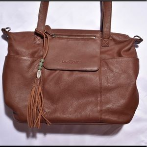 98b7bd734e66 Lily Jade Bags - basically new Lily Jade Madeline Brandy   Silver